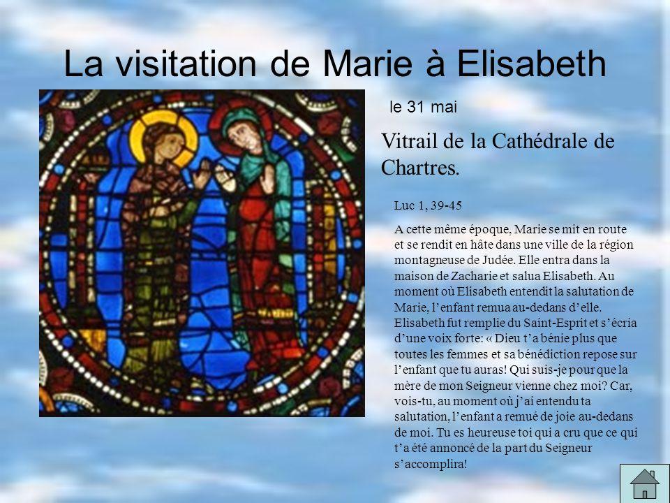 La visitation de Marie à Elisabeth