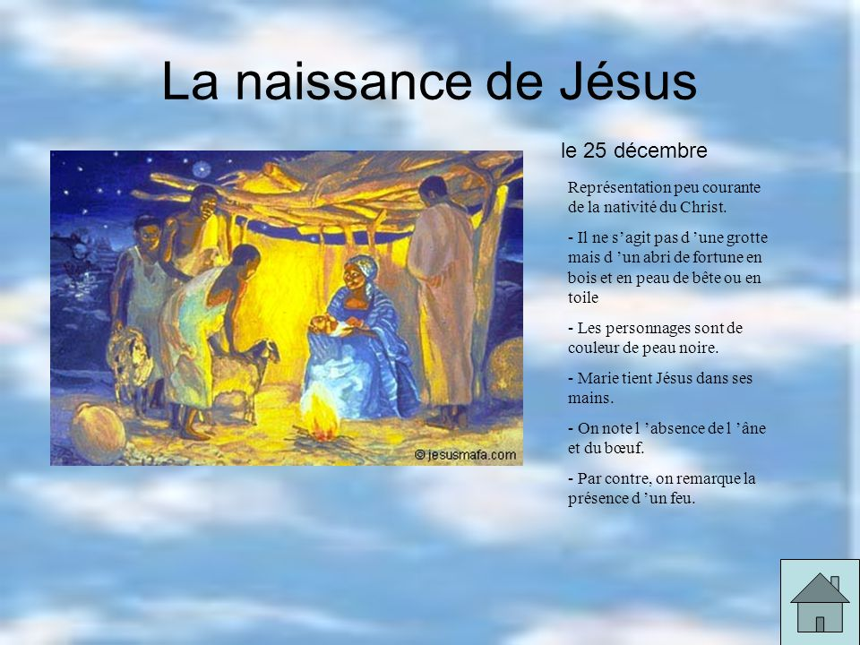 La naissance de Jésus le 25 décembre