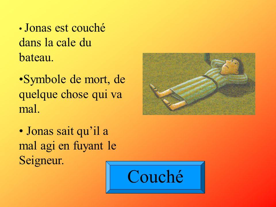Couché Symbole de mort, de quelque chose qui va mal.