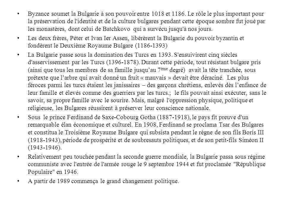 Byzance soumet la Bulgarie à son pouvoir entre 1018 et 1186