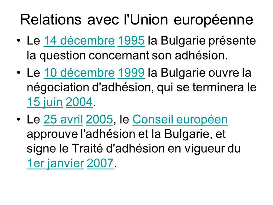Relations avec l Union européenne