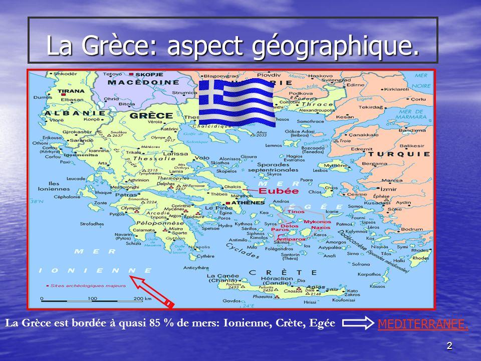 La Grèce: aspect géographique.