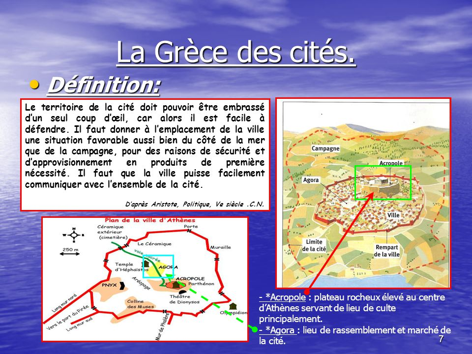 La Grèce des cités. Définition: