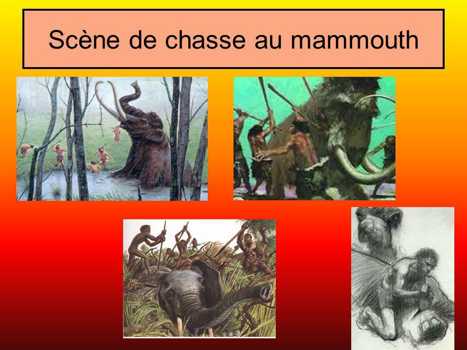 Scène de chasse au mammouth