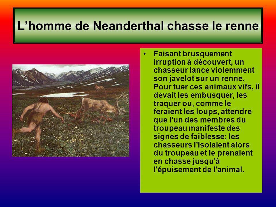 L'homme de Neanderthal chasse le renne