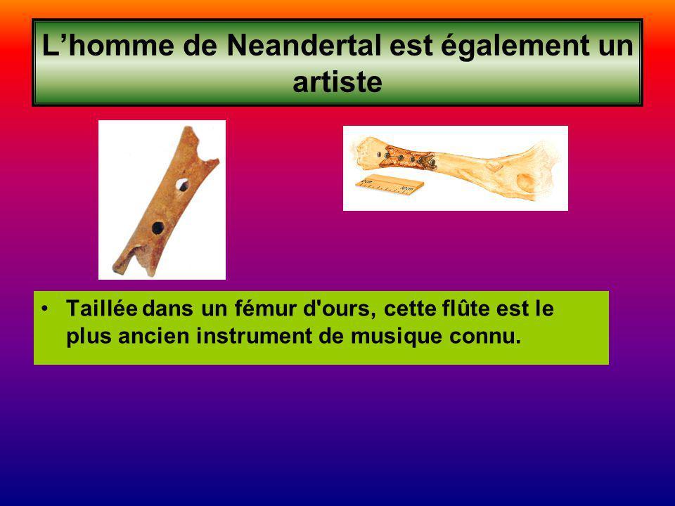 L'homme de Neandertal est également un artiste
