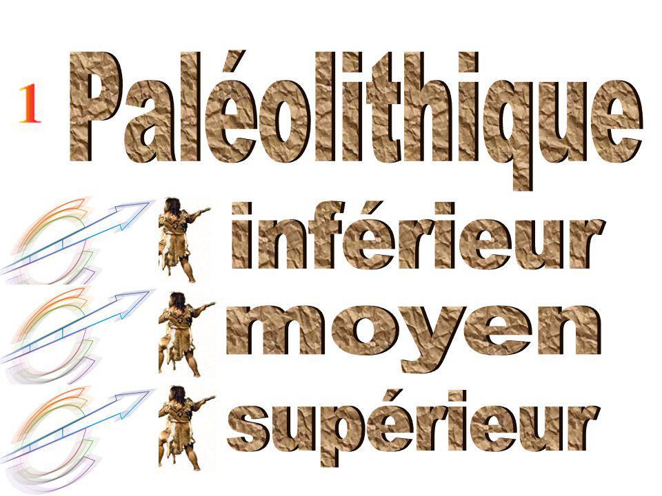 Paléolithique inférieur moyen supérieur