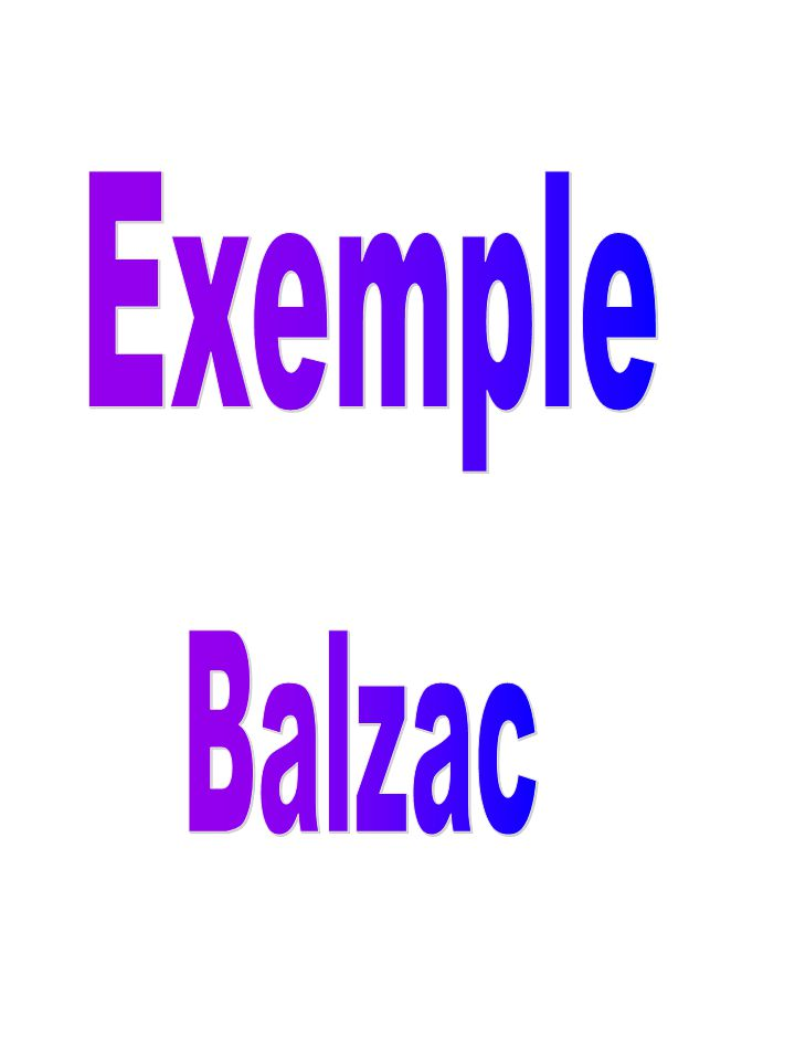 Exemple Balzac