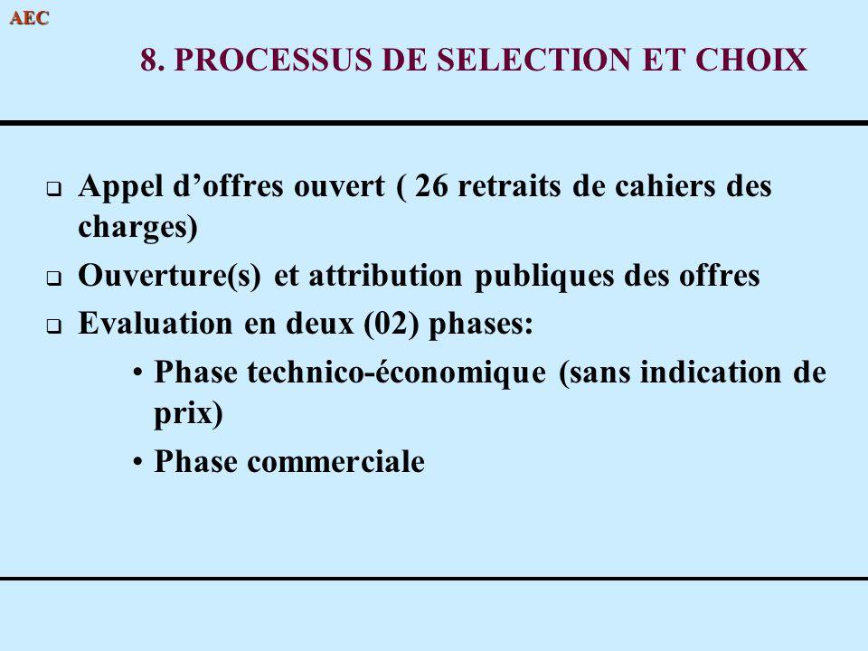 8. PROCESSUS DE SELECTION ET CHOIX