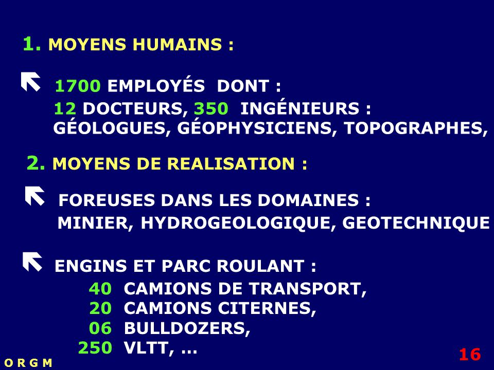 2. MOYENS DE REALISATION :