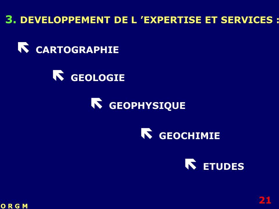  CARTOGRAPHIE  GEOLOGIE  GEOPHYSIQUE  GEOCHIMIE  ETUDES