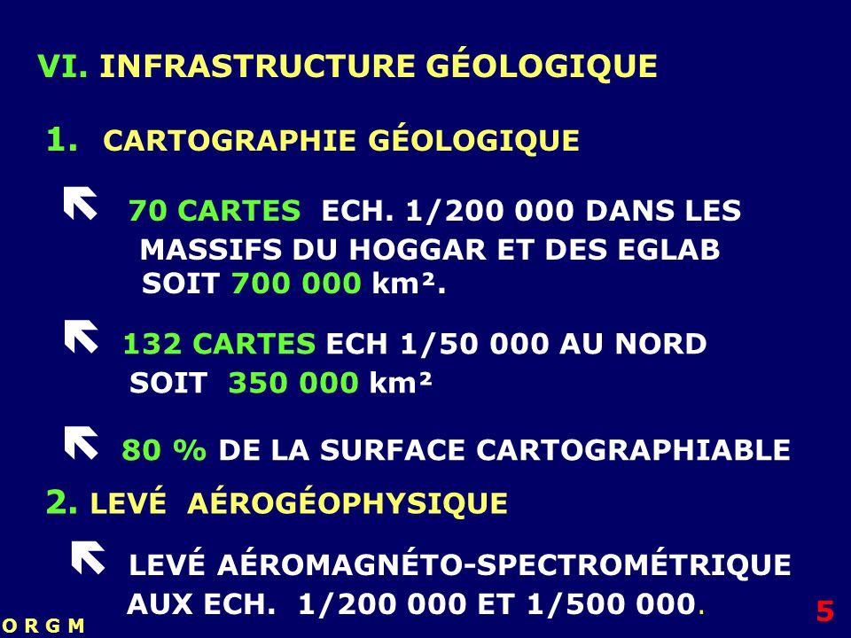  70 CARTES ECH. 1/200 000 DANS LES MASSIFS DU HOGGAR ET DES EGLAB