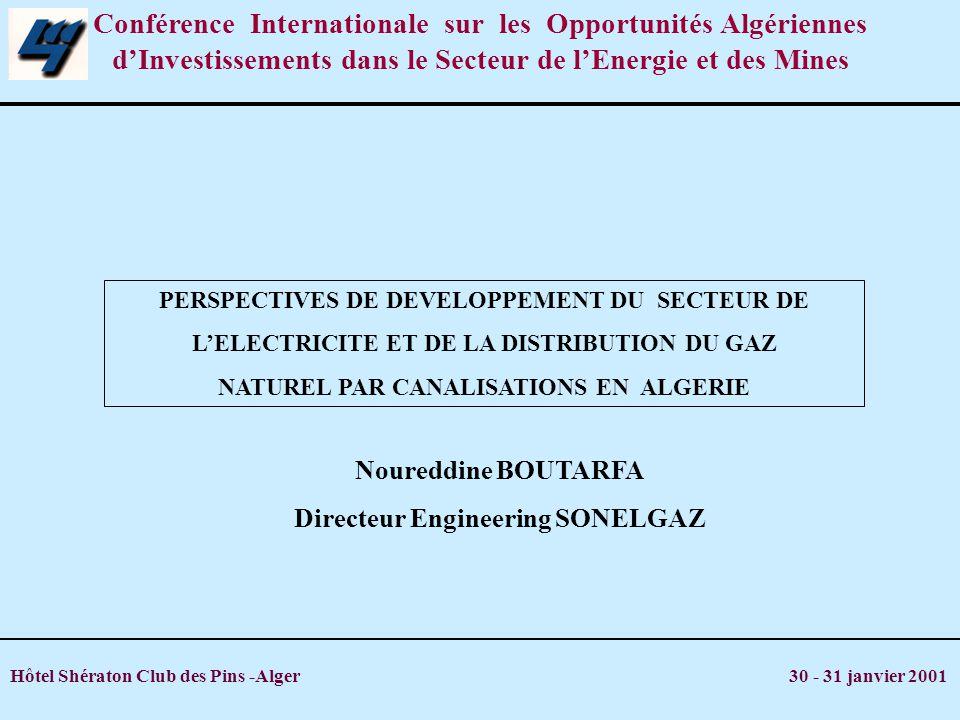 Conférence Internationale sur les Opportunités Algériennes d'Investissements dans le Secteur de l'Energie et des Mines