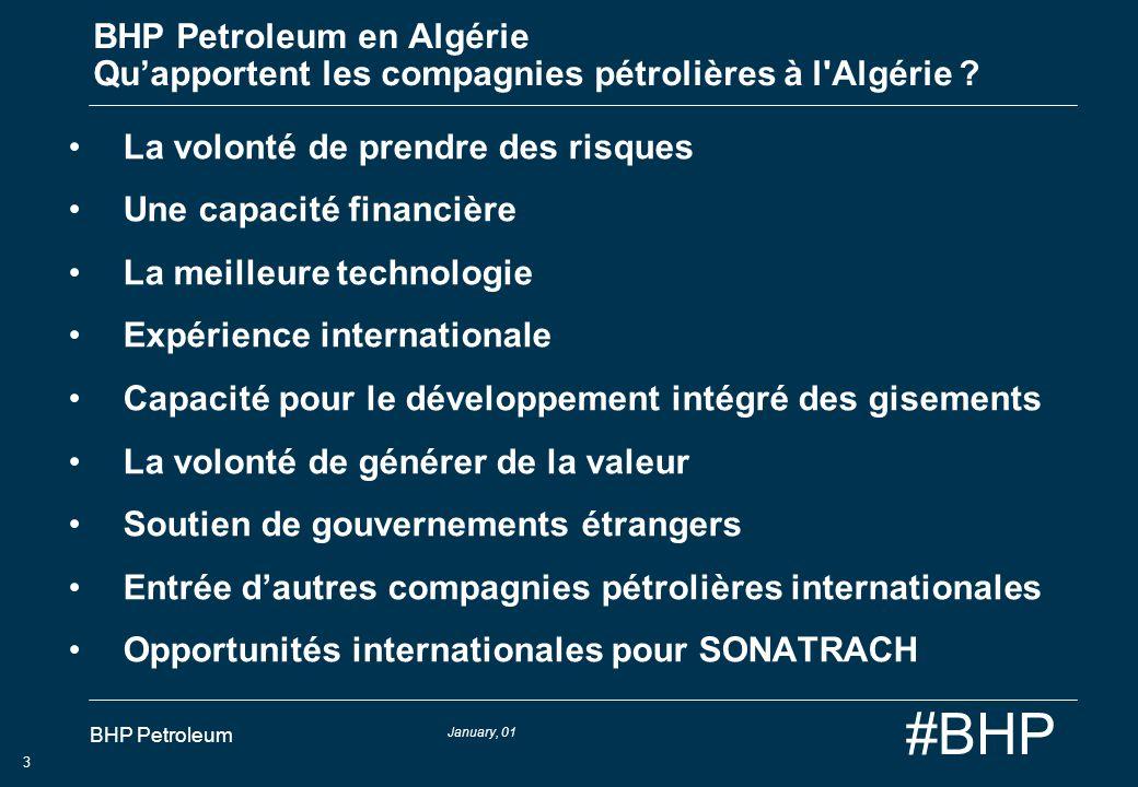 BHP Petroleum en Algérie Qu'apportent les compagnies pétrolières à l Algérie