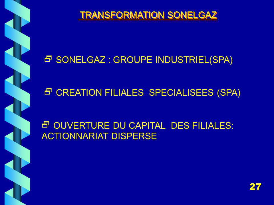 TRANSFORMATION SONELGAZ
