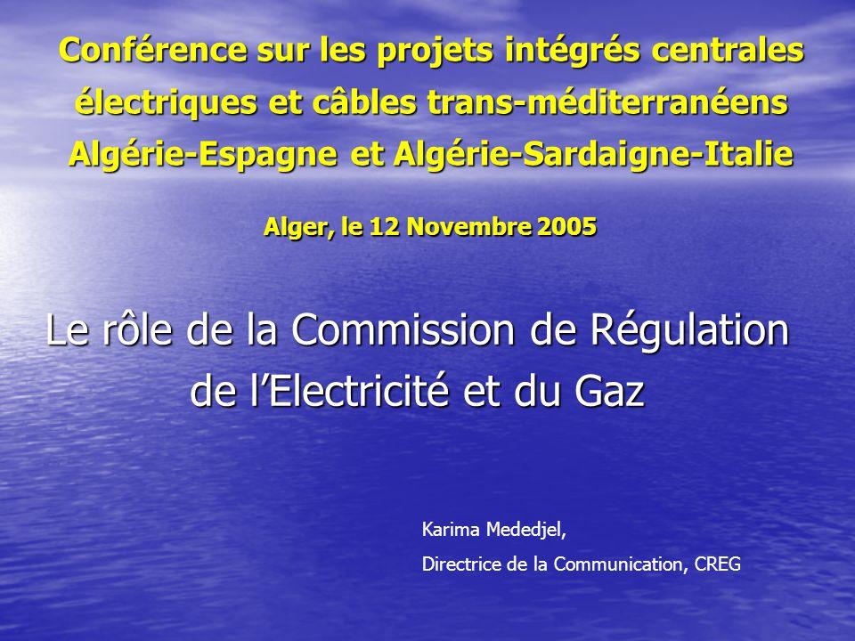 Le rôle de la Commission de Régulation de l'Electricité et du Gaz