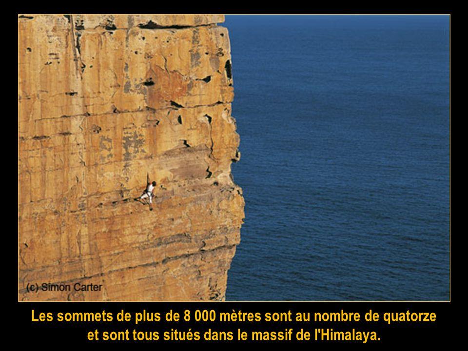 Les sommets de plus de 8 000 mètres sont au nombre de quatorze