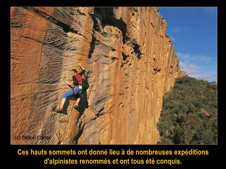 Ces hauts sommets ont donné lieu à de nombreuses expéditions d alpinistes renommés et ont tous été conquis.