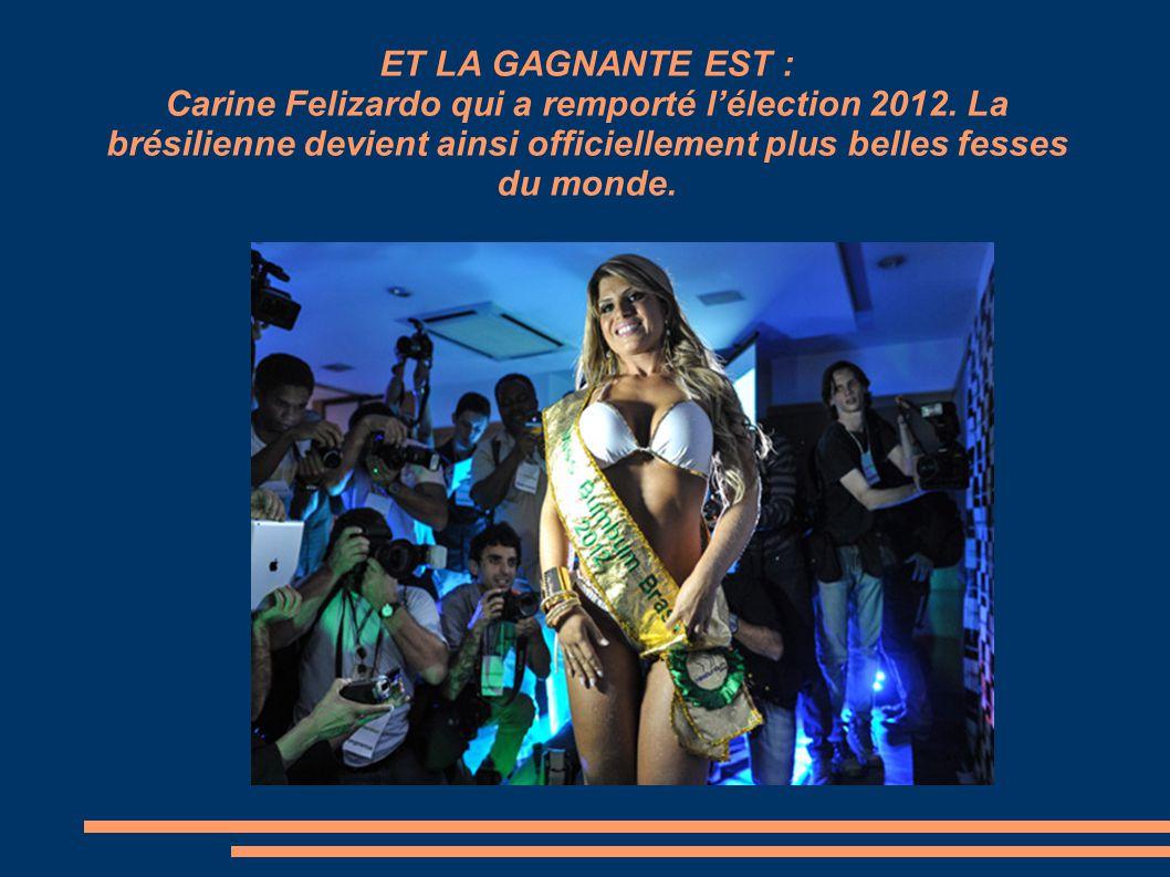ET LA GAGNANTE EST : Carine Felizardo qui a remporté l'élection 2012