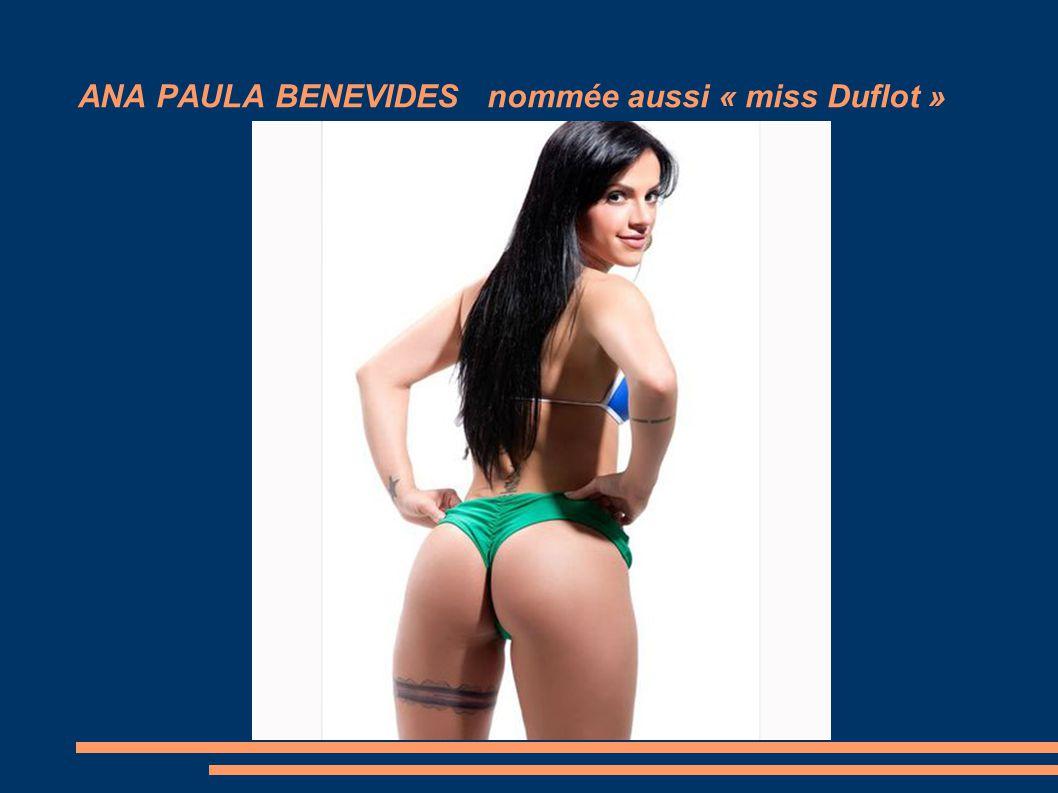 ANA PAULA BENEVIDES nommée aussi « miss Duflot »