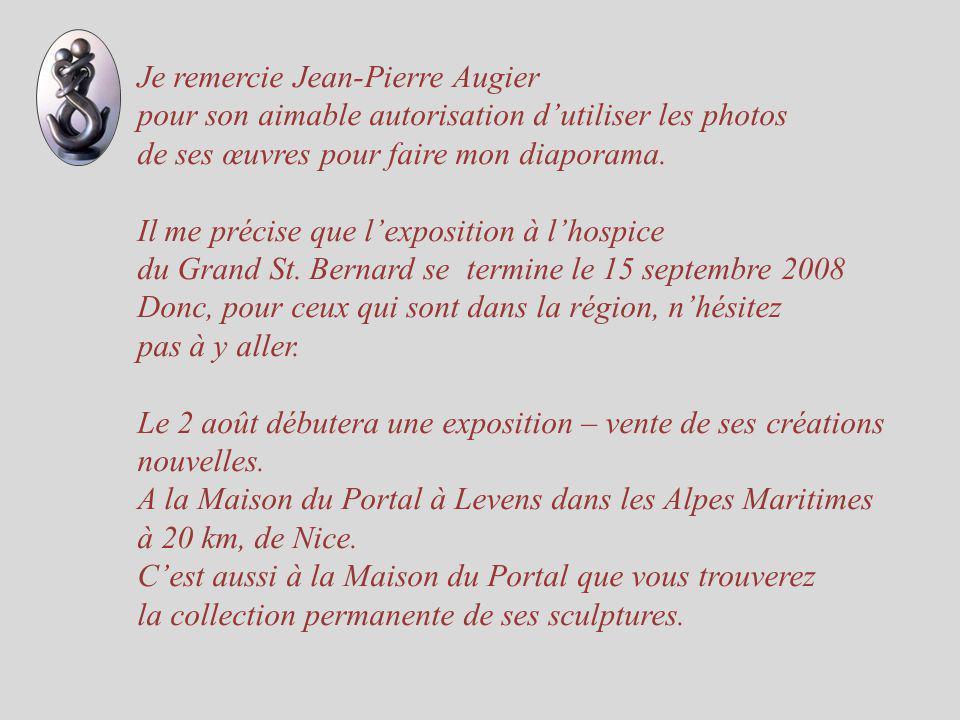 Je remercie Jean-Pierre Augier