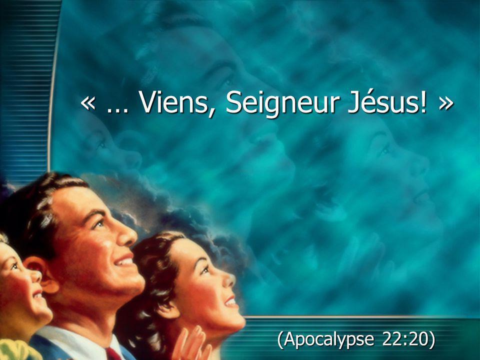 « … Viens, Seigneur Jésus! »