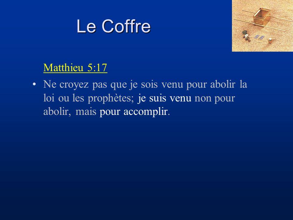 Le Coffre Matthieu 5:17.