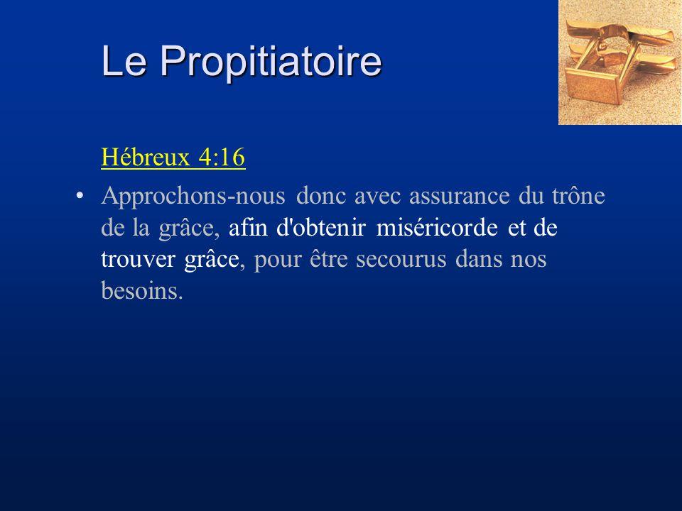 Le Propitiatoire Hébreux 4:16