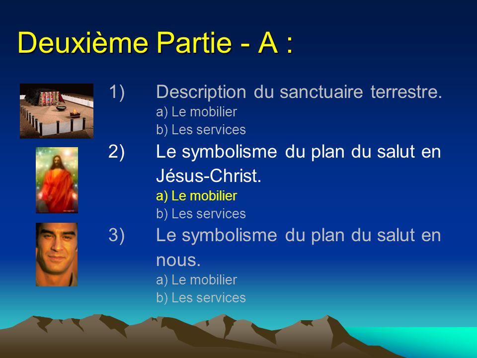 Deuxième Partie - A : 1) Description du sanctuaire terrestre.
