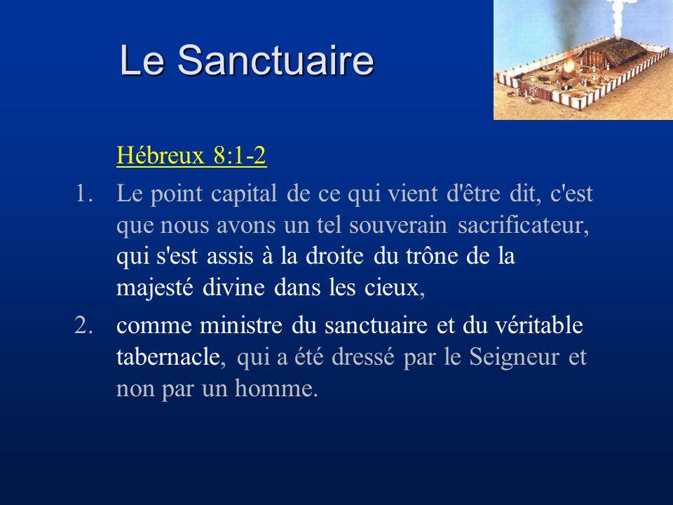 Le Sanctuaire Hébreux 8:1-2
