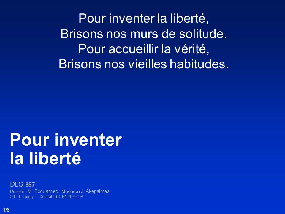 Pour inventer la liberté