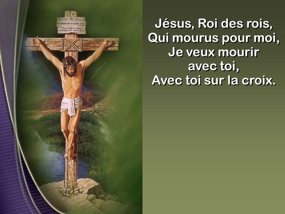 Jésus, Roi des rois, Qui mourus pour moi, Je veux mourir