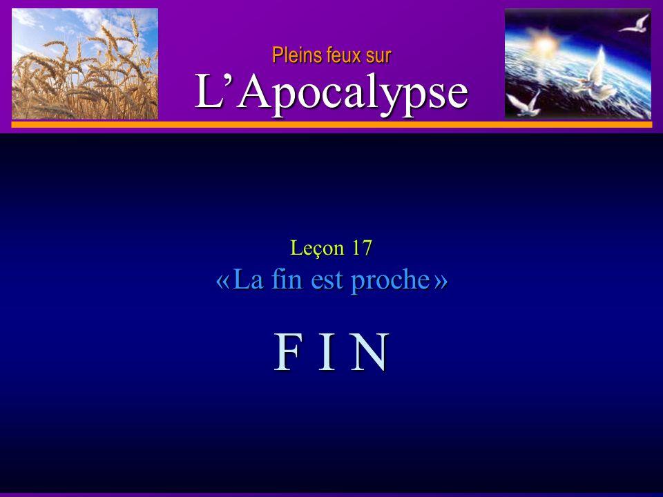 Leçon 17 « La fin est proche »