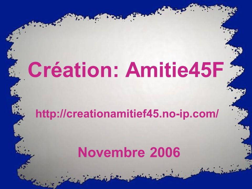 http://creationamitief45.no-ip.com/ Novembre 2006