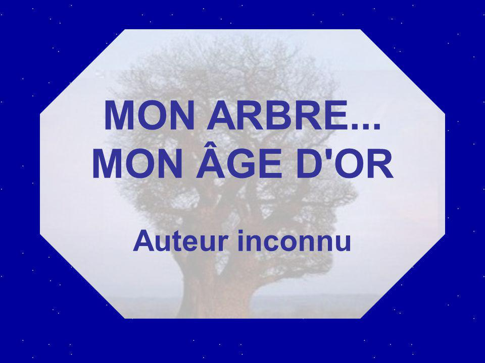 MON ARBRE... MON ÂGE D OR Auteur inconnu