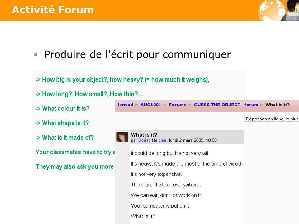 Produire de l écrit pour communiquer