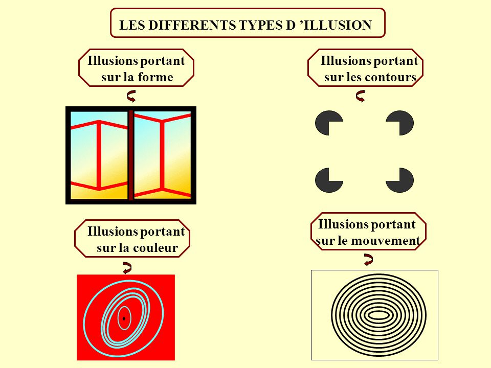 LES DIFFERENTS TYPES D 'ILLUSION