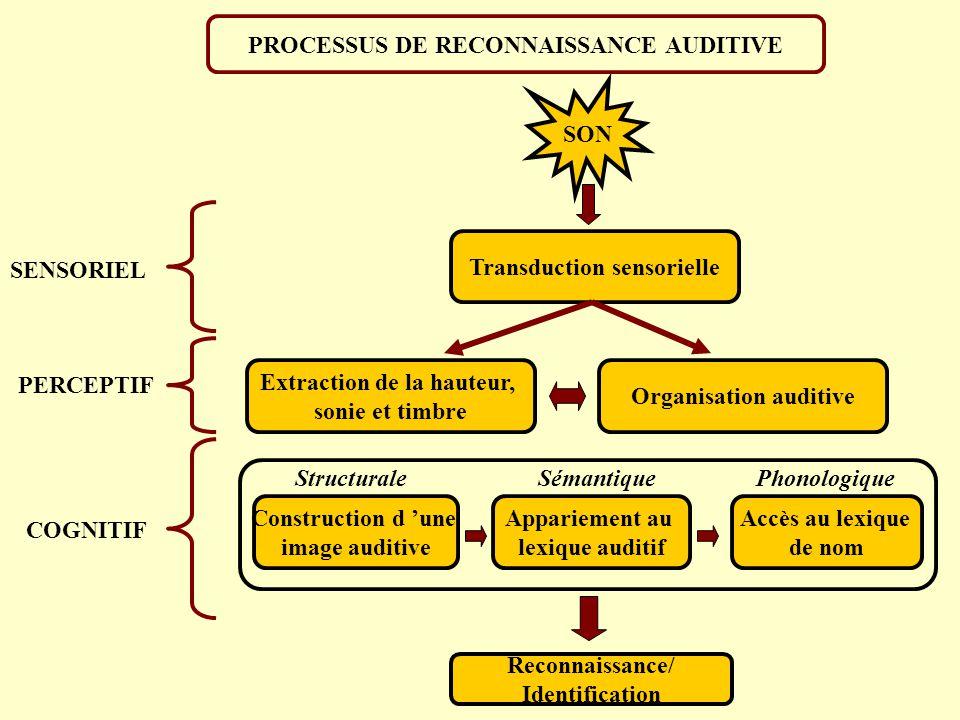 PROCESSUS DE RECONNAISSANCE AUDITIVE