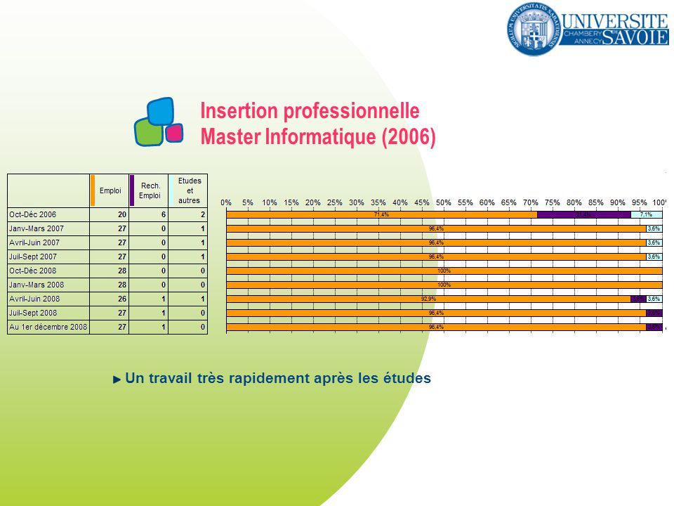 Insertion professionnelle Master Informatique (2006)