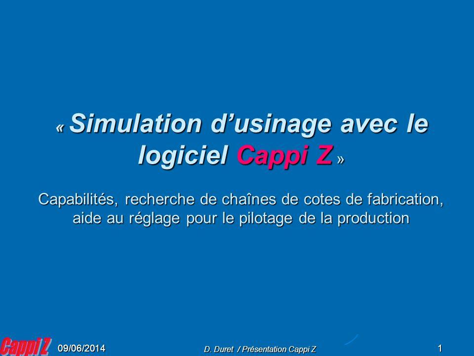 D. Duret / Présentation Cappi Z