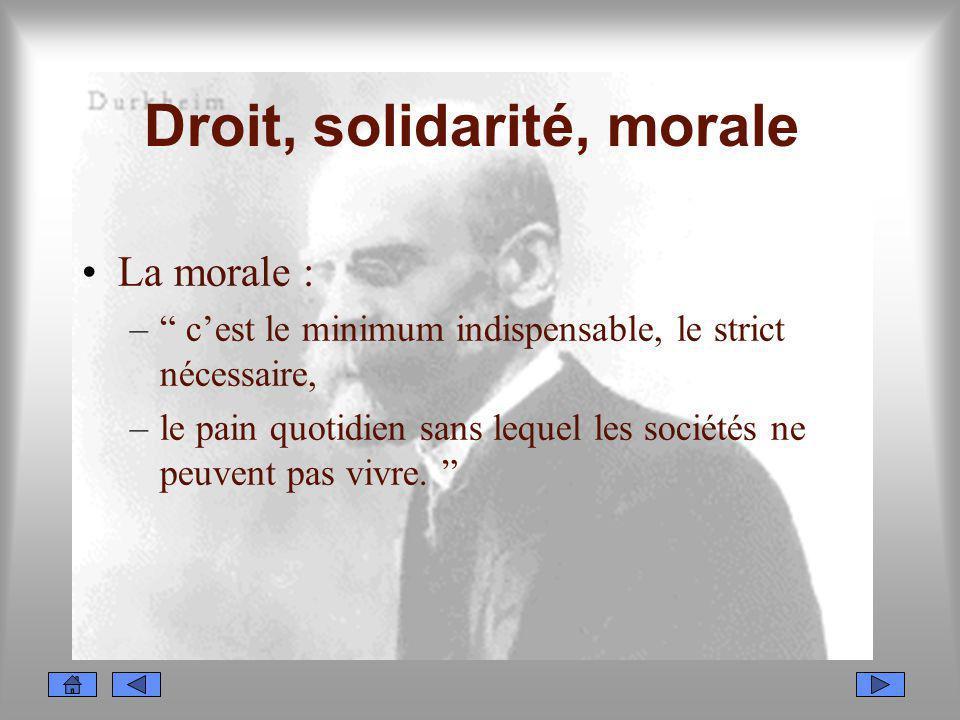 Droit, solidarité, morale