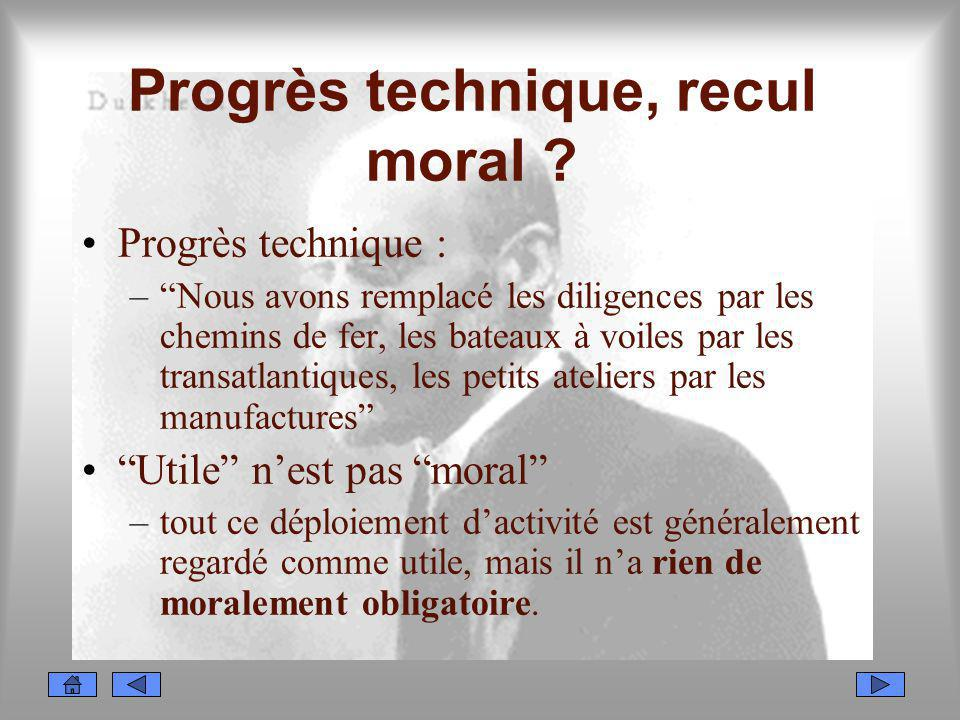 Progrès technique, recul moral