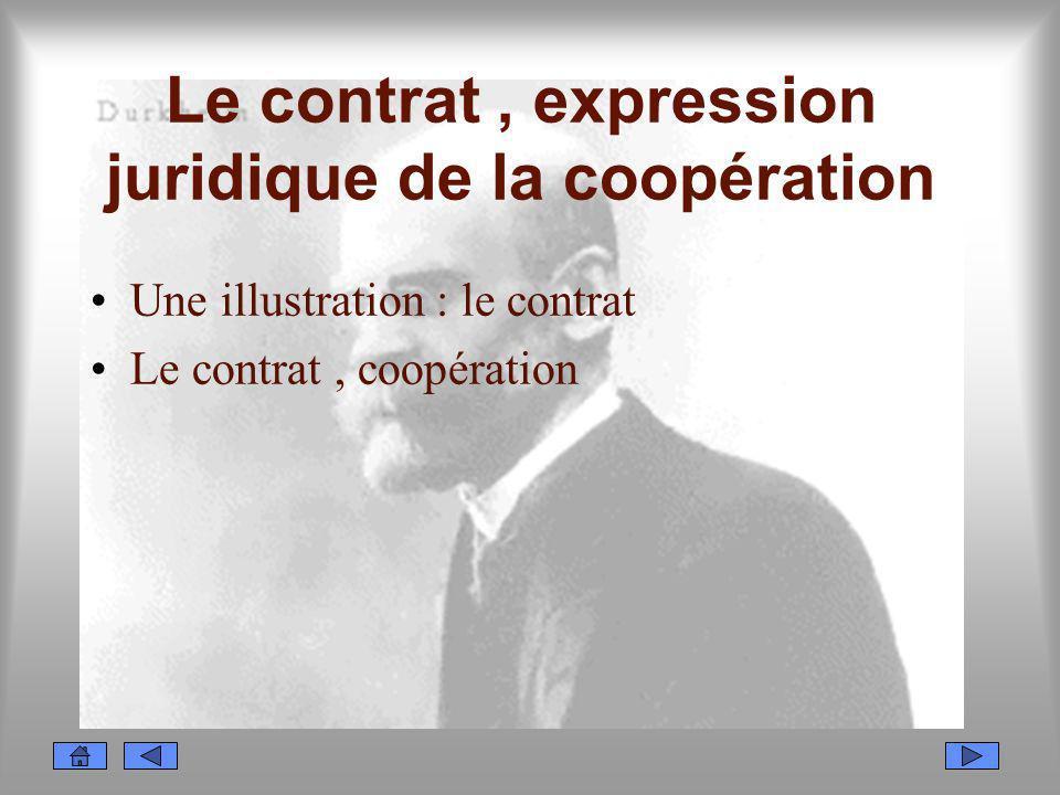 Le contrat , expression juridique de la coopération