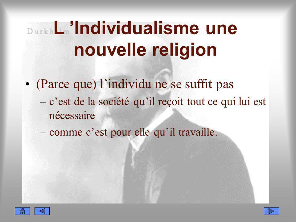 L 'Individualisme une nouvelle religion