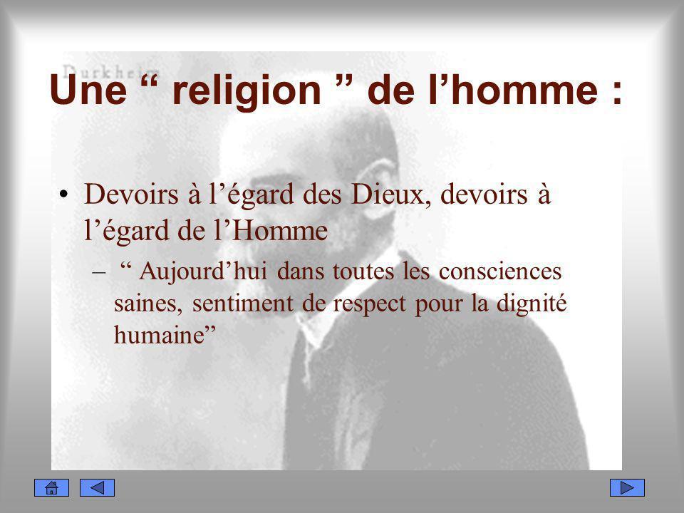 Une religion de l'homme :