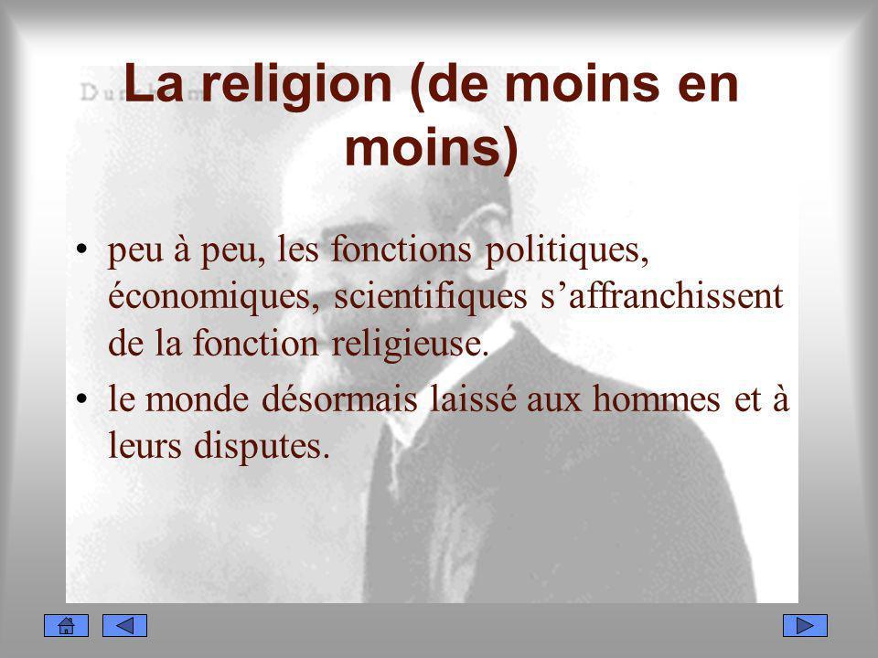 La religion (de moins en moins)