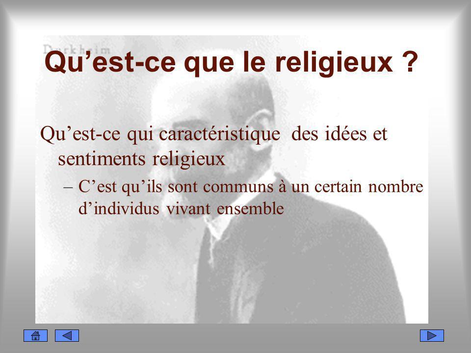 Qu'est-ce que le religieux
