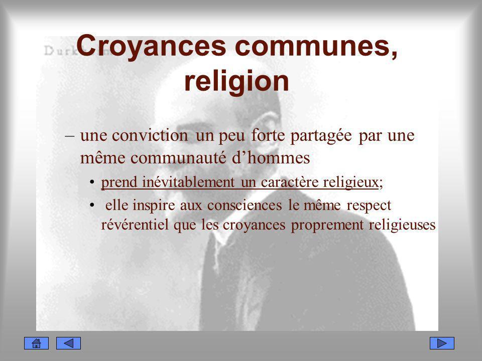 Croyances communes, religion