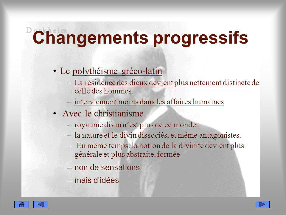 Changements progressifs