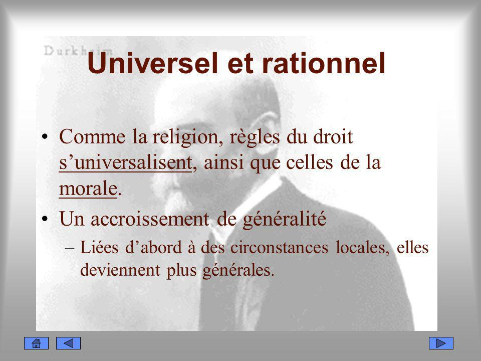 Universel et rationnel